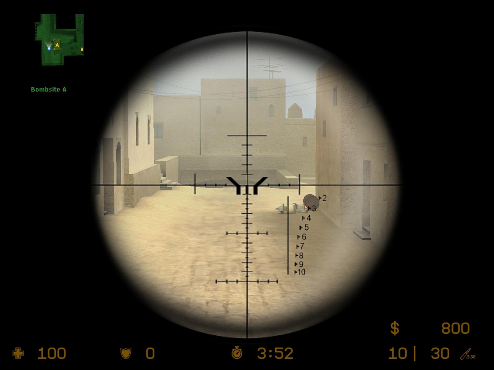 Как сделать снайперский прицел в кс го толще